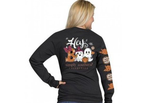 SIMPLY SOUTHERN Simply Southern - Hey Boo Long Sleeve