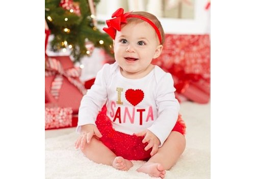 MUD PIE I Love Santa - Tutu Crawler