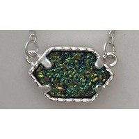 kendra scott inspired druzy necklace