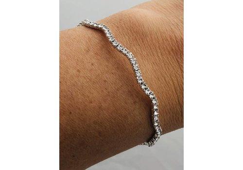 rhinestone, adjustable wavy bracelet