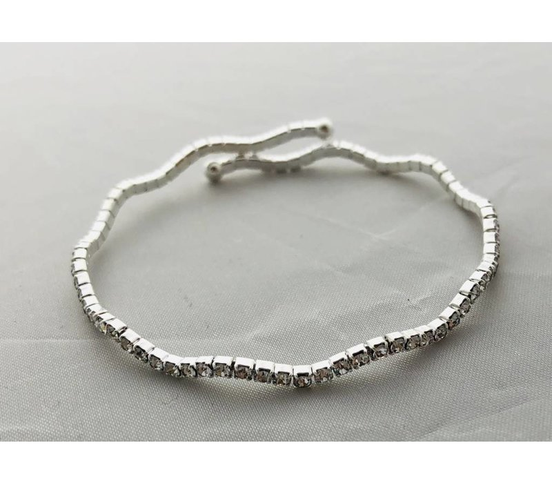 rhinestone, adjustable wavy bracelet