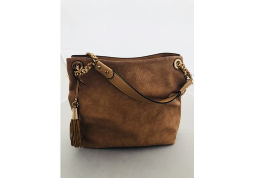 fashion distribution center FDC Large Brown Leather Purse (tote)