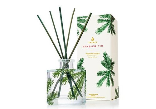 THYMES Fraiser Fir Reed Diffuser, Petite, Pine Needle design