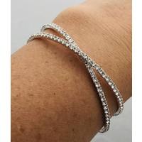 double strand rhinestone adjustable bracelet