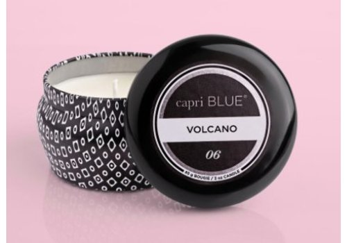 Capri Blue - Volcano, Printed Mini Tin- Black