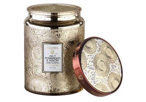 voluspa Gilt Pomander & Hinoki Large Jar