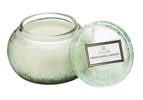 voluspa French Cade & Lavender Embossed Bowl - 2 wick