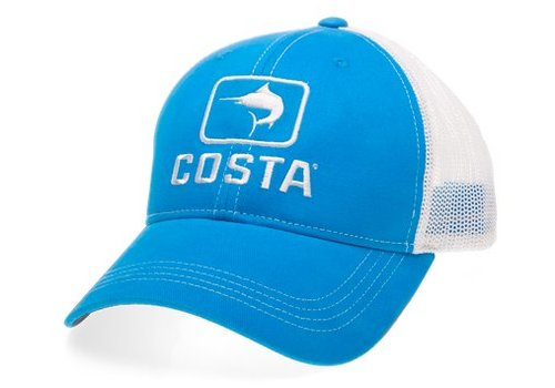 Costa - trucker hat, marlin blue/white