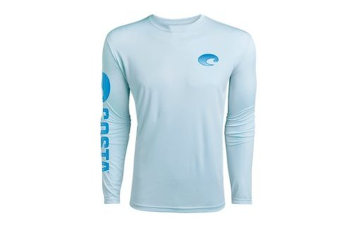 Costa -arctic blue  long sleeved dry-fit shirt - XXL
