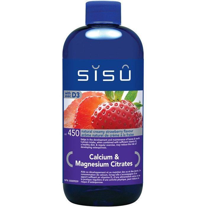 SISU Calcium Magnesium liquide fraise 450 ml