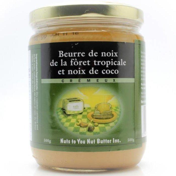 Beurre de noix foret tropicale et coco, sucre 500g