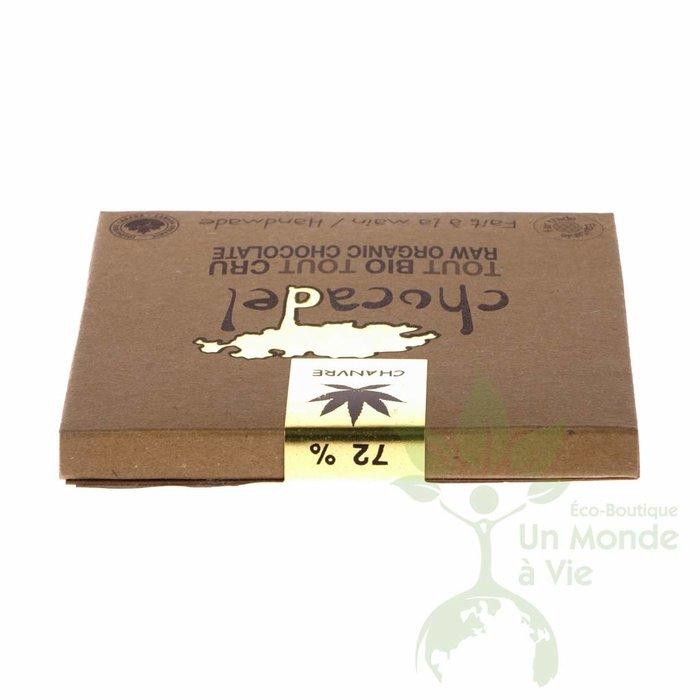 Barre chocolat cru bio 72% Chanvre 60g