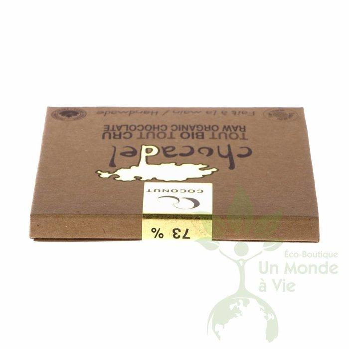 Barre chocolat cru bio 73% Coconut 60g