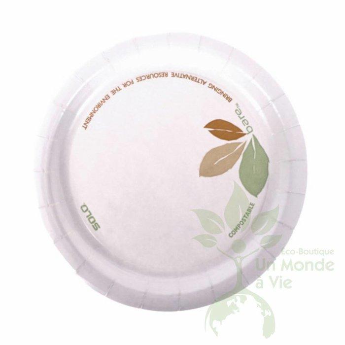 Assiette compostable (125) 6po