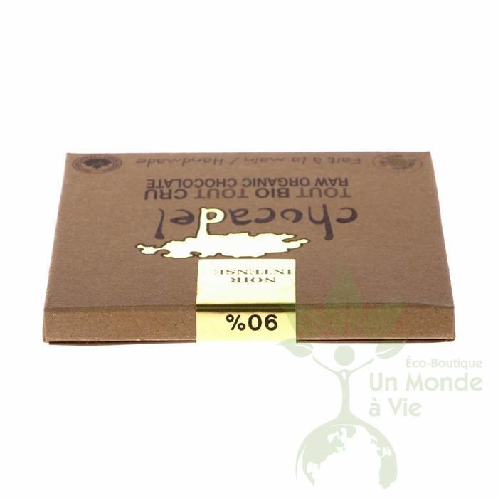 Barre chocolat cru bio 90% Noir intense 60g