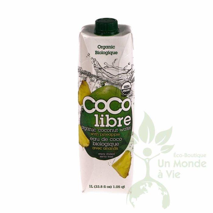 Eau de coco bio avec ananas 1 L