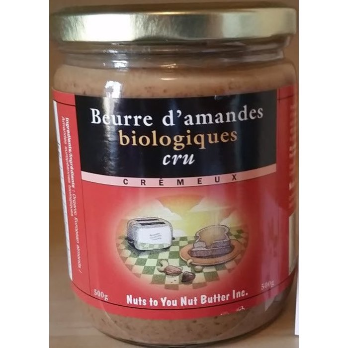 NUTS TO YOU Beurre d'amandes CRU bio 500g