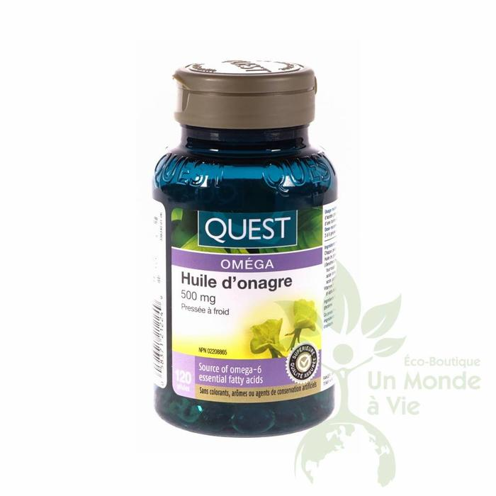 QUEST Huile d'onagre 500 mg 120 capsules