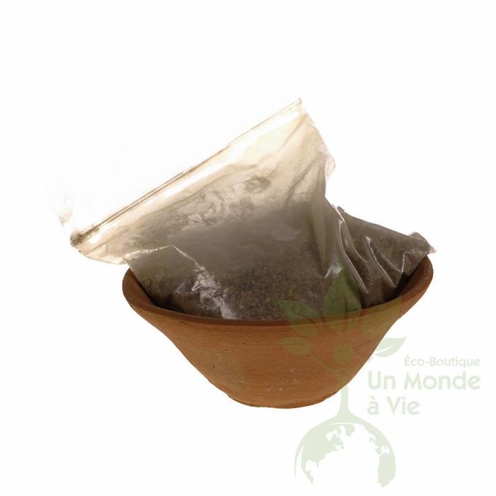 Encensoir en pot d'argile+sable