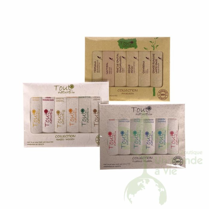 TOUT NATUREL Mini-palette encens 6 fragrances Florales