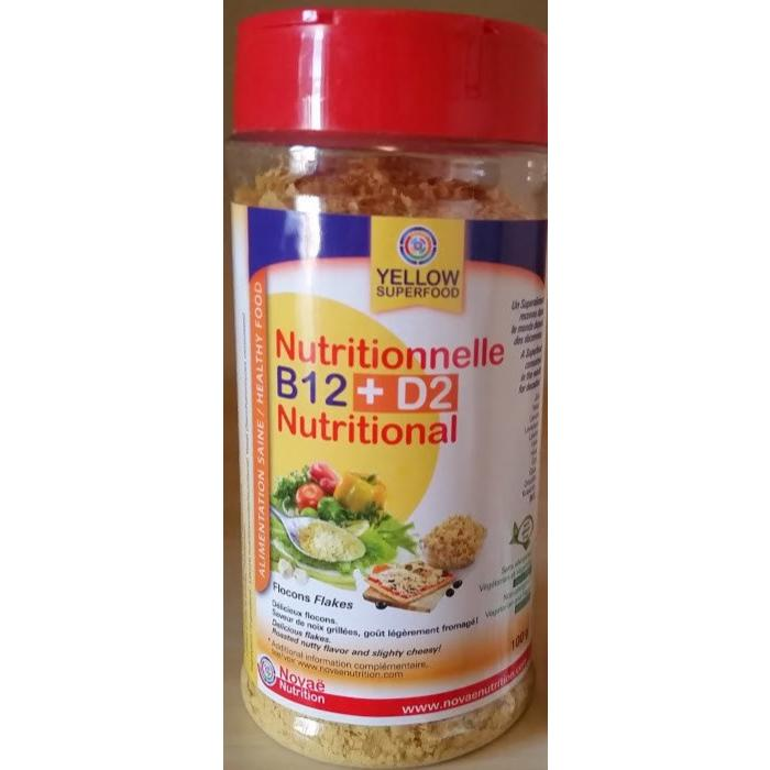 Levure nutritionnelle B12 + D2 100g