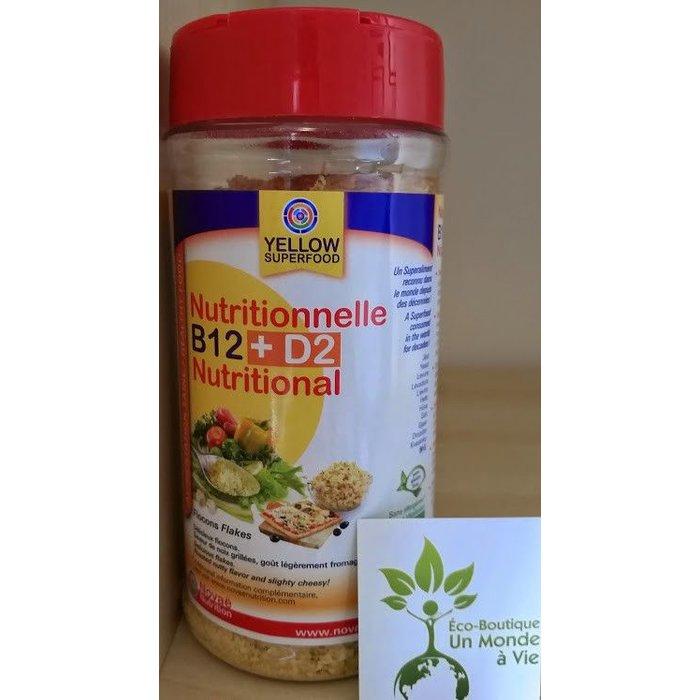 YELLOW Levure nutritionnelle B12 + D2 125g