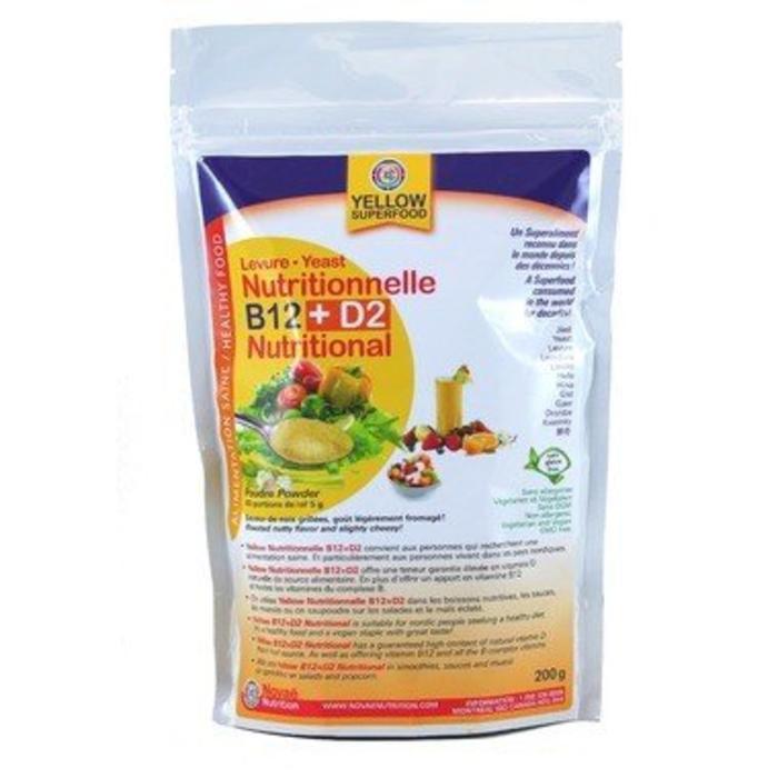 Levure nutritionnelle B12 + D2 200g