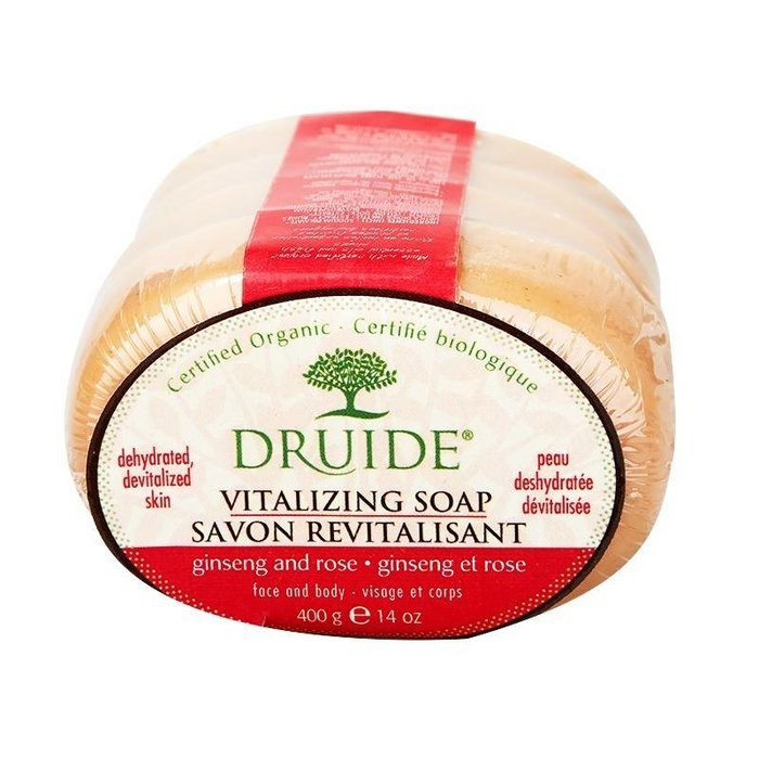 DRUIDE Savon Vitalisant (ginseng & rose) paquet de 4x100g
