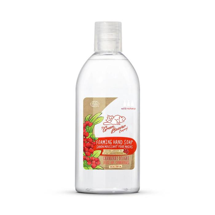 Savon moussant a mains canneberge recharge 770ml