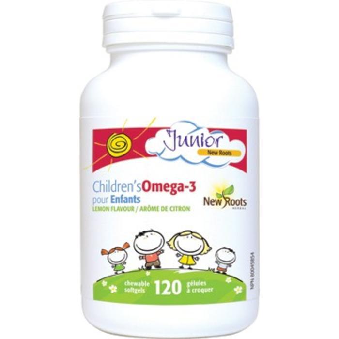 Junior Omega-3 pour enfants 120 gelules croquables