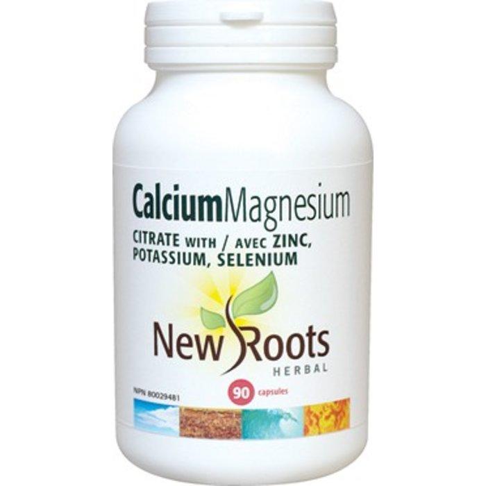 Calcium magnesium citrate avec zinc 90 capsules