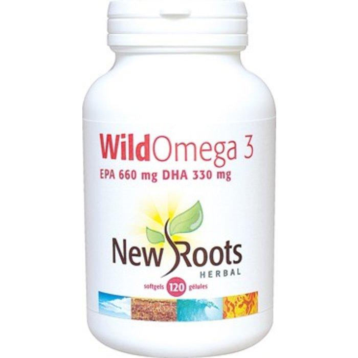 Wild omega-3 AIP 660mg ADH 330mg 120 gelules