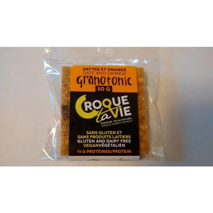 Barres Granotonic dattes et orange 400 g