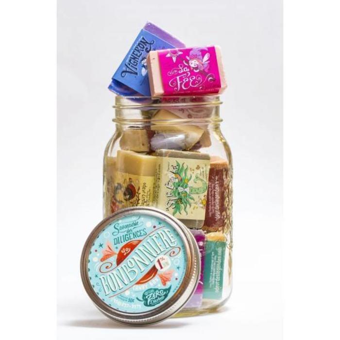 Bonbonniere mini-savons dans Pot Masson 450g