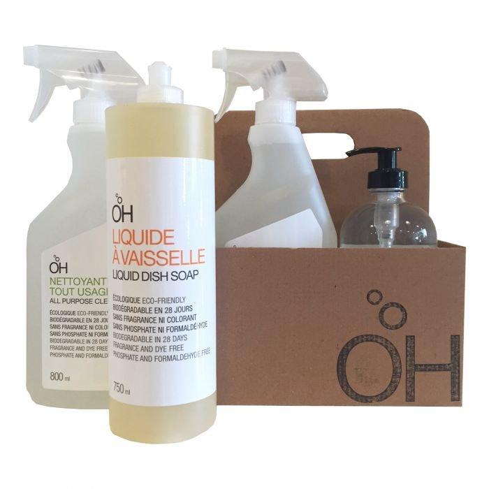 Eco-kit de 4 produits nettoyants neutres