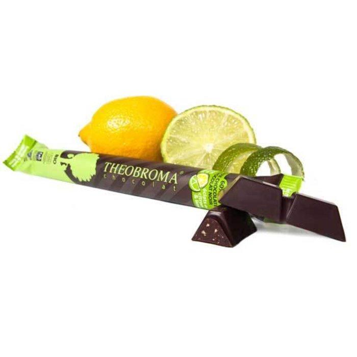 Barre chocolat noir eclat citron-lime biologique 60% 35g