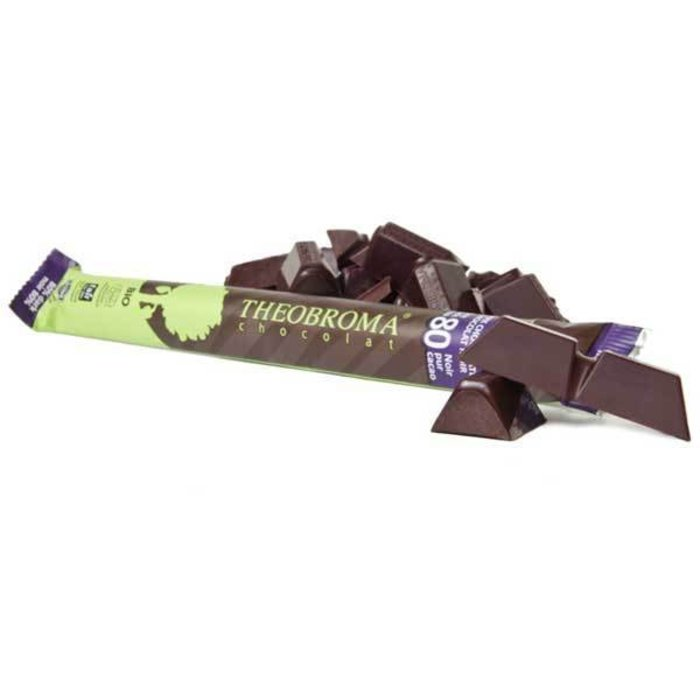 Barre chocolat noir pur 80% 35g