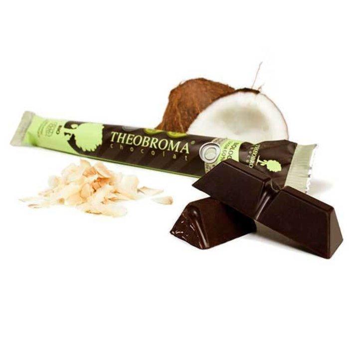 Chocolat noir 60% éclat de noix de coco 35g