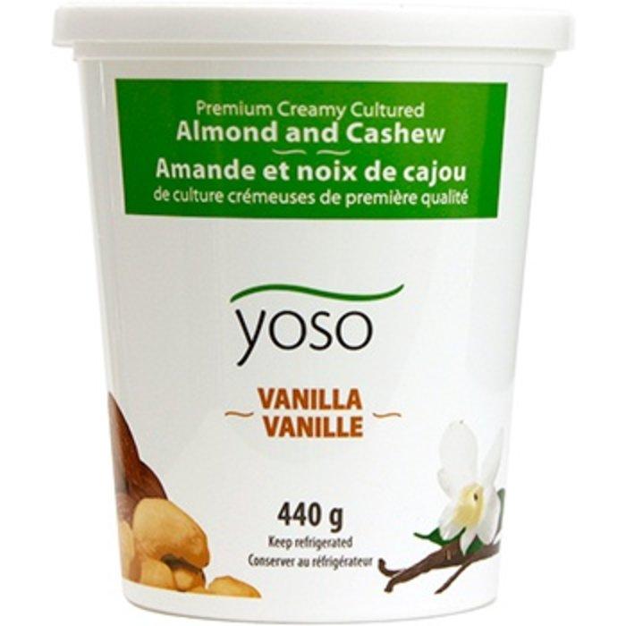 Yogourt vegan amande, noix de cajou et vanille 440g