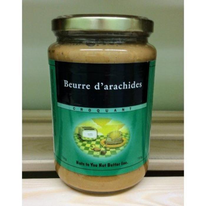 Beurre d'arachides blanchies croquant 750g