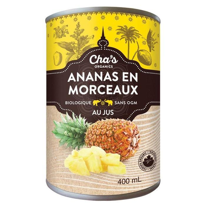 Ananas en morceaux au jus bio 400ml