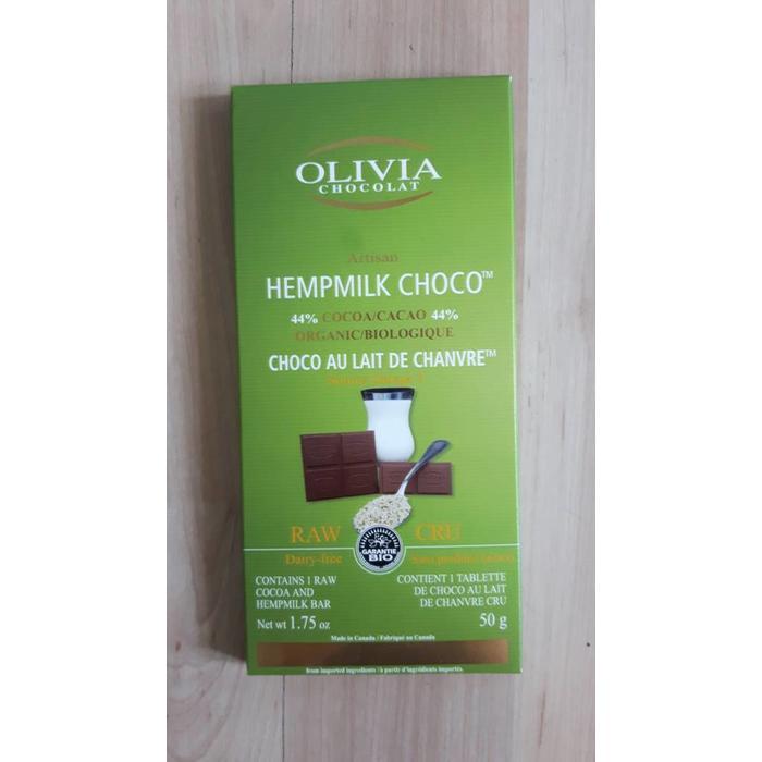 Chocolat cru au lait de chanvre 50g