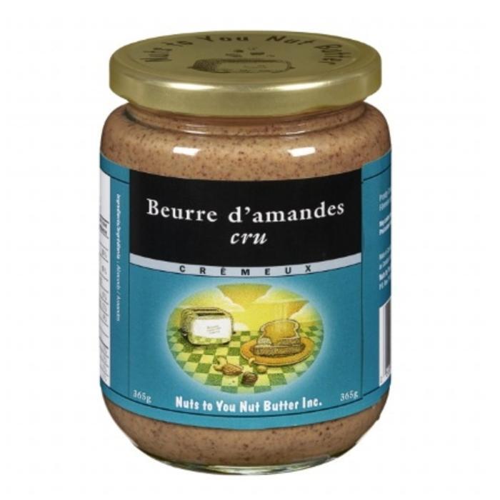 Beurre d'amandes, cru, cremeux biologique 365g