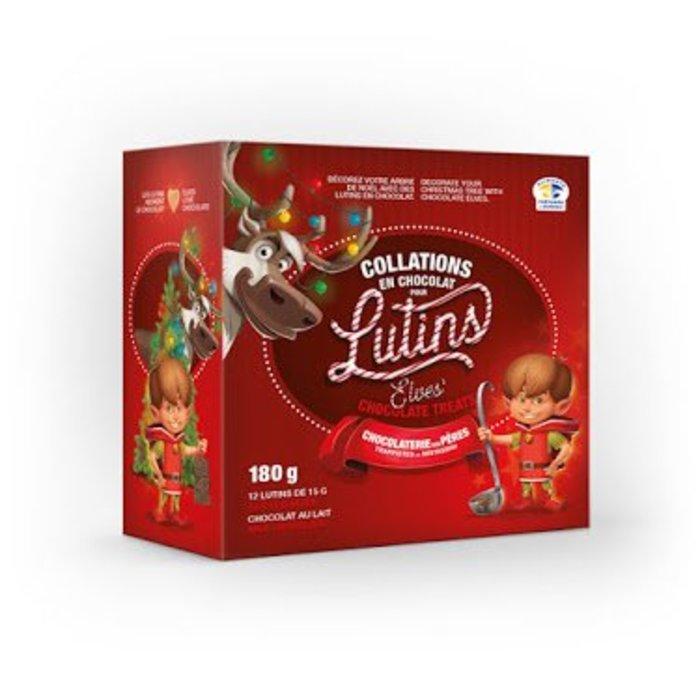 Boite de 12 lutins en chocolat 180g
