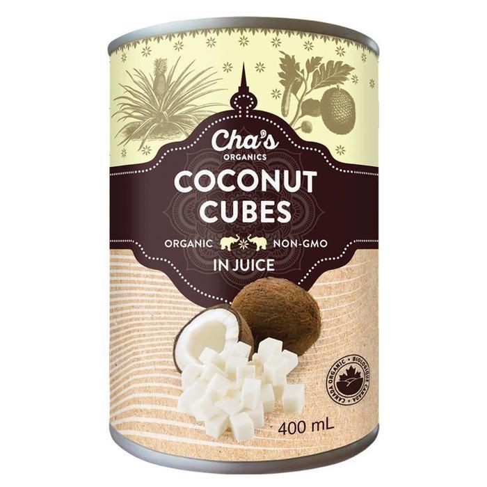 Noix de coco en dés au jus d'ananas bio 400ml