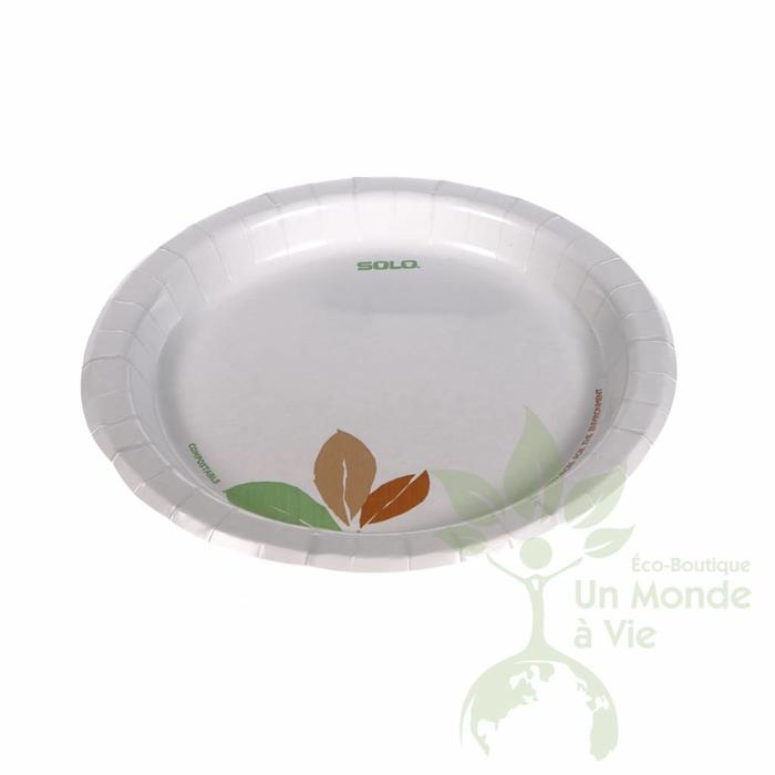 Assiette compostable (paq.125)