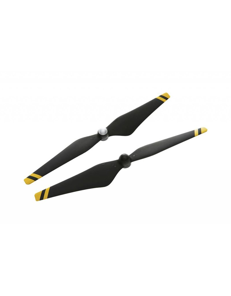DJI 9450 Carbon Fiber Reinforced Self-tightening Propellers (Composite Hub, Black with Yellow Stripes)