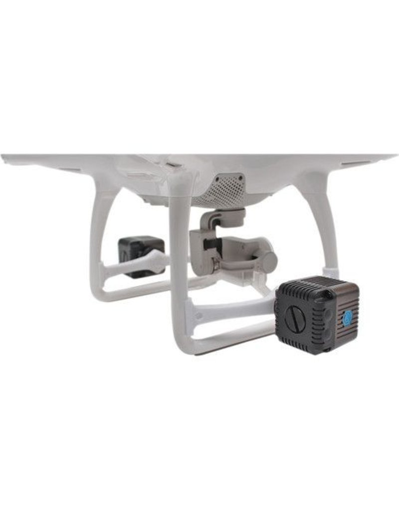 Lume Cube Lume Cube Two Gunmetal Grey Lume Cubes with Two White Mounting Bars for DJI Phantom 4 Quadcopter