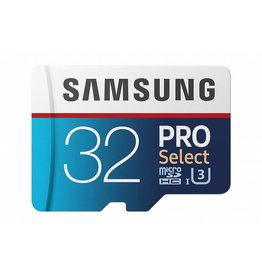 Samsung Samsung 32GB 100MB/s (U3) MicroSD PRO Select Memory Card with Adapter (MB-MF32GA/AM)