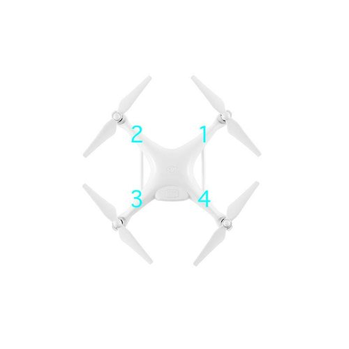 DJI Phantom 4 Pro Landing Gear Antenna Cover (4-Pack, Black)
